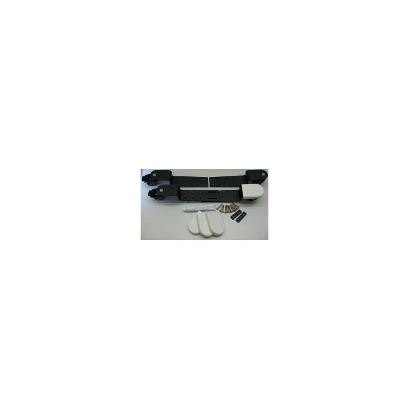 roulettes bridge r glables noires roues en polyur thane et freins diff rents caches au choix. Black Bedroom Furniture Sets. Home Design Ideas