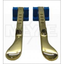 Pédales en laiton pour piano droit (gauche + droite) 210 mm