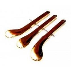 Pédales en laiton pour piano à queue 220 mm (gauche + centre + droite)