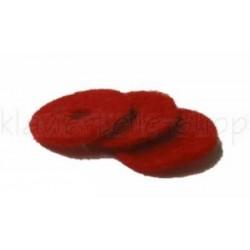 Mouches de balancier en feutre rouge 12 x 1 mm (différentes quantités au choix)
