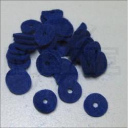Mouches de balancier en feutre bleu 12 x 1 mm (différentes quantités au choix)