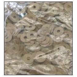 Mouches en papier de balancier 12 x 0,50 mm (différentes quantités au choix)