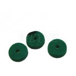 Mouches en feutre vert foncé d'enfoncement 5 mm (différentes quantités au choix)