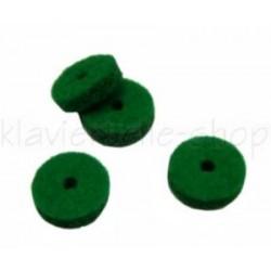 Mouches en feutre vert d'enfoncement 4 mm (différentes quantités au choix)