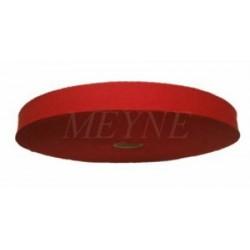 Bande en coton pour tresser rouge 20 mm