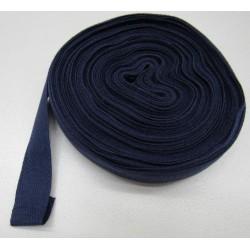 Bande en coton pour tresser bleue 20 mm