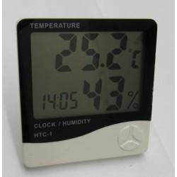 Hygro-thermomètre horloge