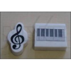 Set de gommes clé de sol + clavier