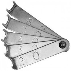 Outil pour mesurer les chevilles dans le piano