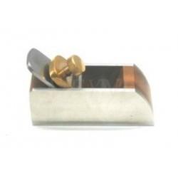 Rabot de poche en palissandre côté latéral en métal 75 x 27 mm