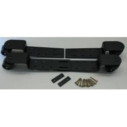 Roulettes à bridge réglables noires et roues en polyuréthane