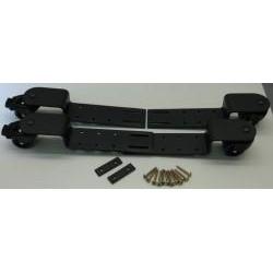 Roulettes à bridge réglables noires, roues en polyuréthane et freins (différents caches au choix)