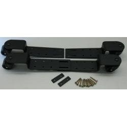 Roulettes à bridge réglables noires et roues en caoutchouc (différents caches au choix)