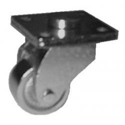 Roulette en fonte cuivrée pour piano droit