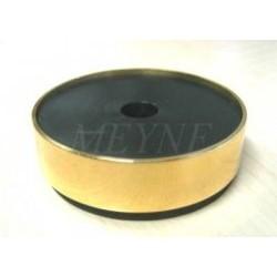 Isolateur en laiton, 57 mm Ø, avec caoutchouc insonorisant