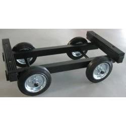 Chariot de transport en acier garni en caoutchouc