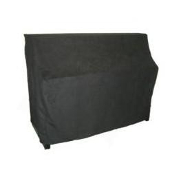 Housse de protection pour piano droit en imitation alcantara noir (plusieurs dimensions au choix)