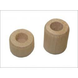 Tourillons en bois pour cadre en fonte, percés 6,35 mm Ø (différentes dimensions au choix)