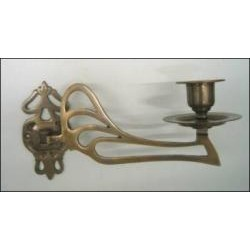 Chandelier en laiton bruni 230 mm art nouveau