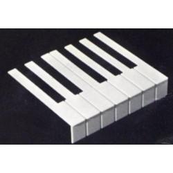 Revêtement de clavier en plaque d'octave avec fontrons