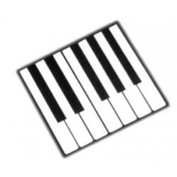 Revêtement de clavier blanc sans fronton